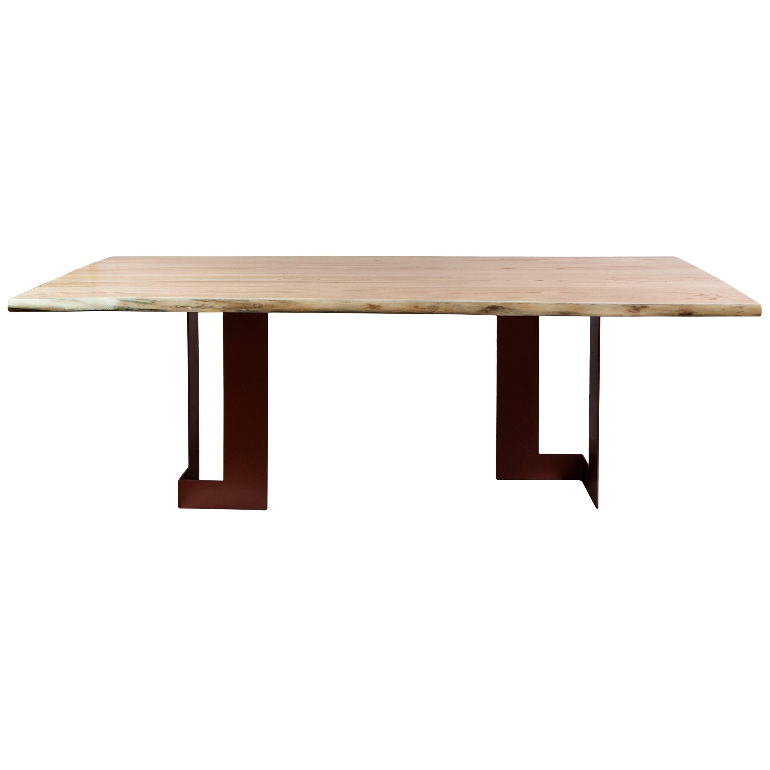 """""""Planos"""" Minimalist Style Dining Table in Solid Wood"""