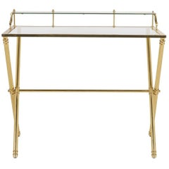 Mid-Century Modern Brass and Glass Desk