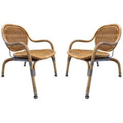 Pair of Mats Theselius Cane Chairs