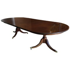 George III Style Double-Pedestal Dining Table by Ralph Lauren