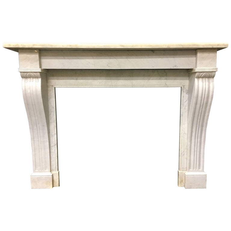 Antique Victorian French Fireplace Surround For Sale