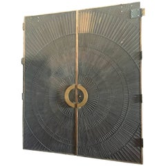 Double Sided Bronze Door by Billy Joe Carroll and David Gillespie