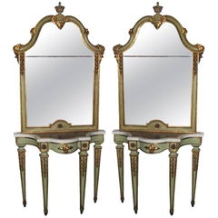 ON SALE Console and Mirror  18th Century Parcel Gilt