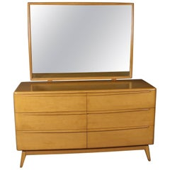 Mid-Century Modern Heywood Wakefield Encore Yellow Birch Dresser, Wheat