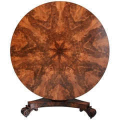 Superb Quality William IVth Mahogany Tilt Top Breakfast Table, circa 1835