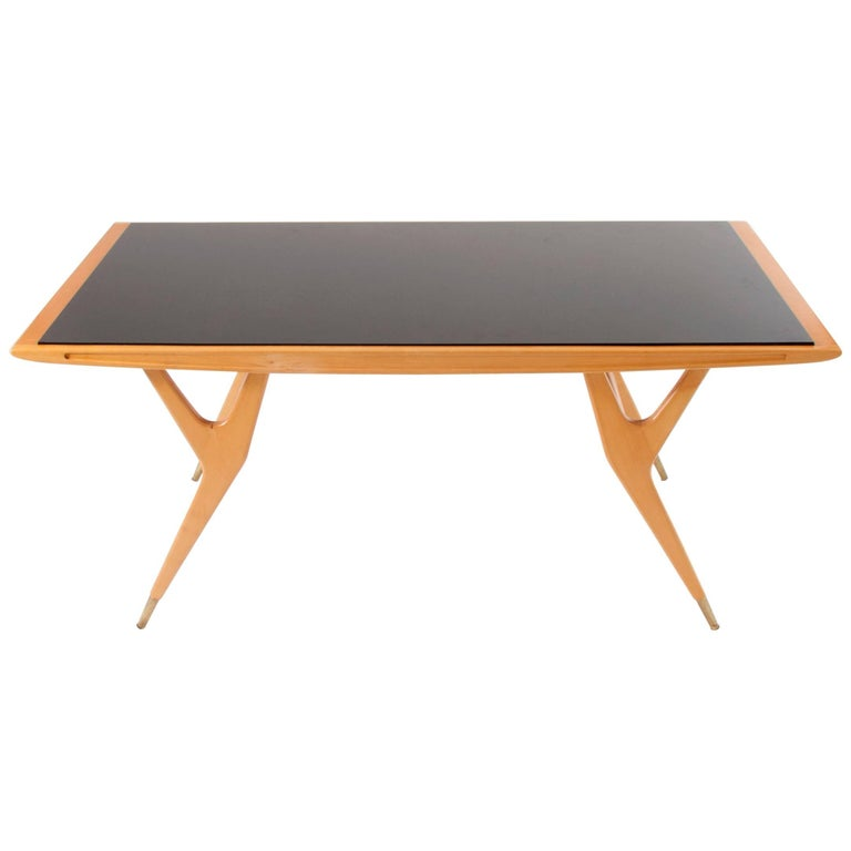 Exceptional Midcentury Coffee Table Attributed to Ico Parisi, Italy, 1950s For Sale