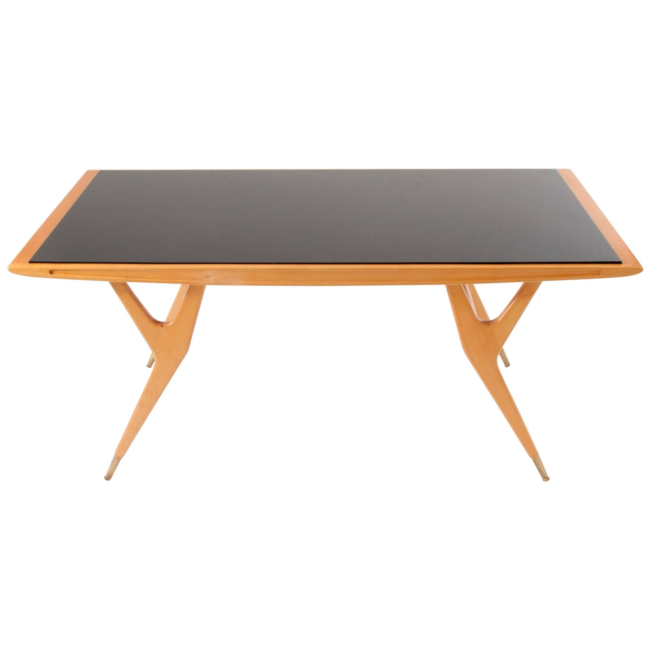 Exceptional Midcentury Coffee Table Attributed to Ico Parisi, Italy, 1950s