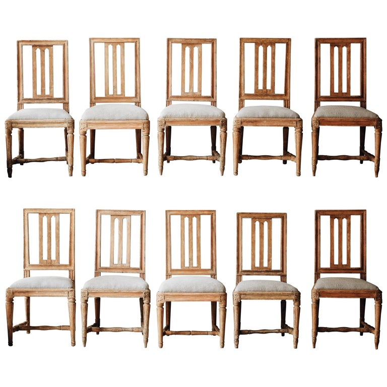 Gustavian chairs, ca. 1800