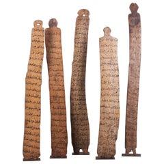 Set of Five 20th Century Ethiopian Writing Board