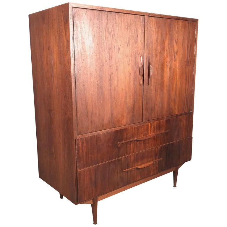 Danish Modern Teak Two-Door Cabinet, Manner of Arne Vodder