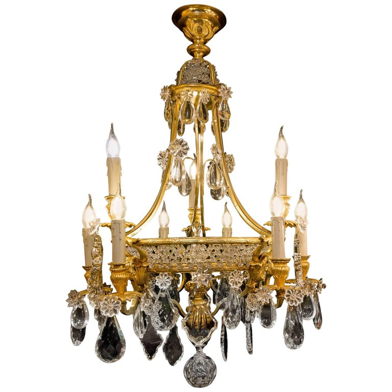 Mid-19th Century Ormolu and Crystal Chandelier by Cristalleries De Baccarat