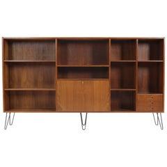 Large Upcycled Midcentury Danish Teak Bookcase