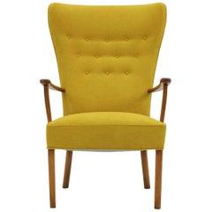 1960 Midcentury Danish Wing Chair