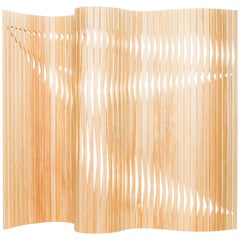 Wood Partition Screen, Foldable, Flexible, Brazilian Design