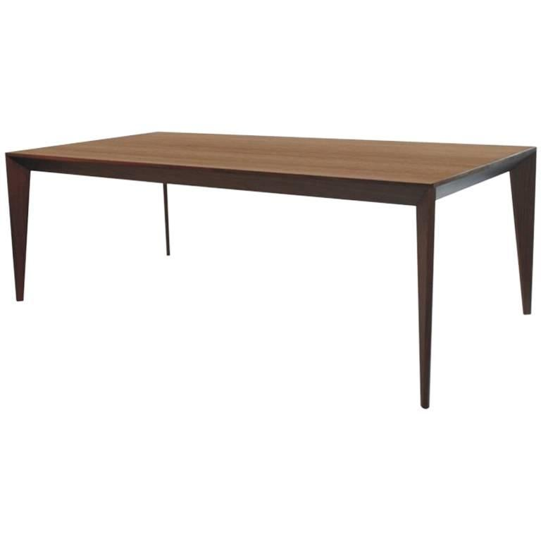 """Volpi"" Minimalist Dining Table Wood-worked Natural Walnut  For Sale"