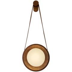 Halo Wall Lamp 'DIM', Walnut