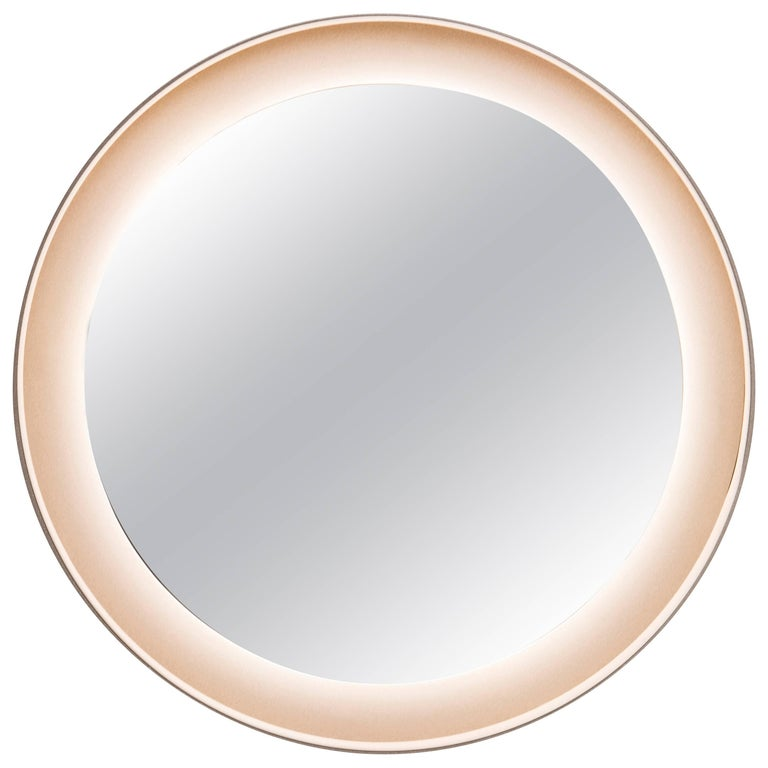 Halo Mirror 'No Dim' Oak