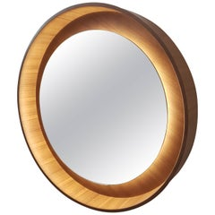 Halo Mirror 'No Dim' in Walnut