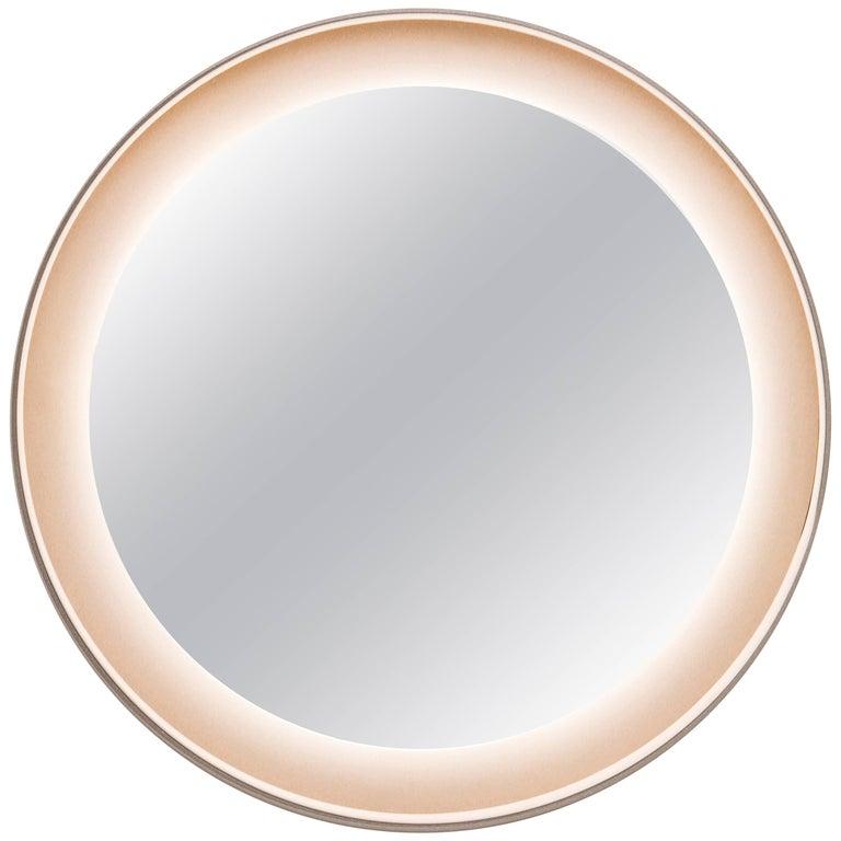 Halo Mirror 'No Dim' Ash Wood