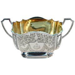 Victorian Silver Batchelor's Sugar Bowl By Atkin Brothers of Sheffield 1895