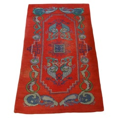 Irish Arts and Crafts Celtic Dun Emer Guild Rug Carpet, circa 1900