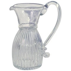 Vintage Pairpoint Handblown Clear Glass Pitcher