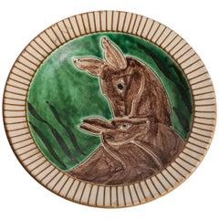 Eslau Plate with Two Deers