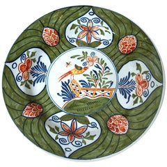18th Century Polychrome Delft Charger, Dutch
