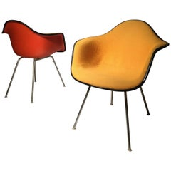 Charles Eames Alexander Girard Shell Chairs in Two-Tone Checkerboard