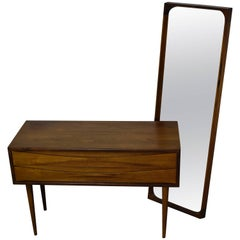 Arne Vodder Small Cabinet 1960s Rosewood with Mirror