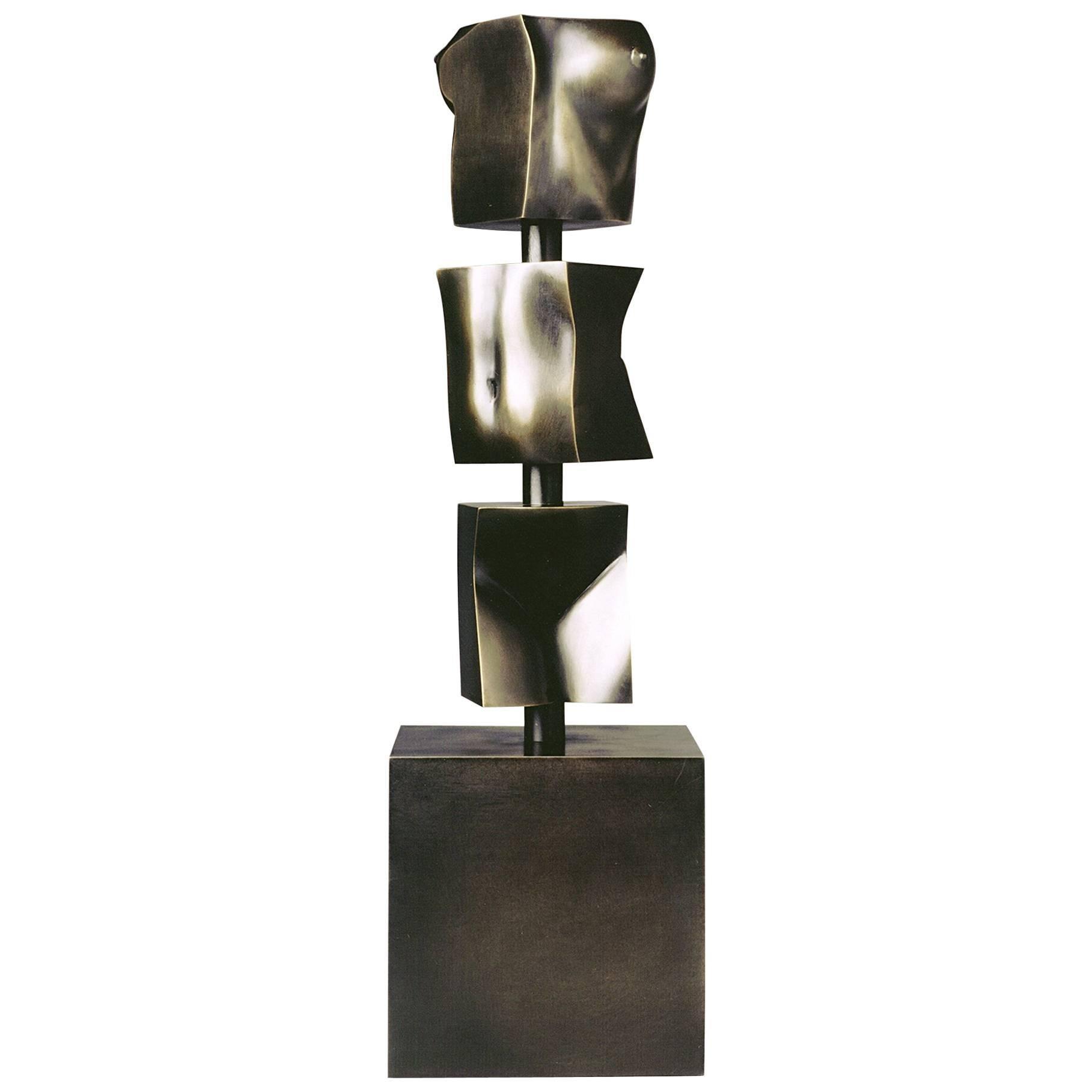 """Tanya Ragir Bronze Sculpture """"TOTEM"""""""