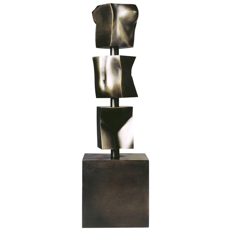 """Tanya Ragir Bronze Sculpture """"TOTEM"""" For Sale"""