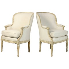 Pair of 19th Century French Bergeres or Armchairs