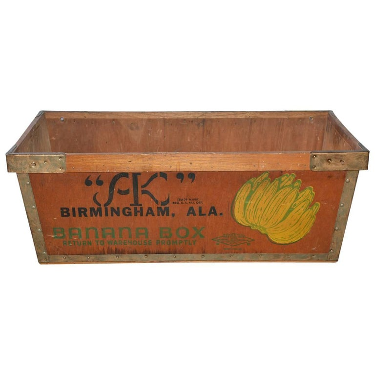 Large Wood Crate by Alex Kontos Fruit Co., Alabama For Sale