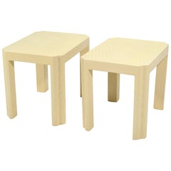 Karl Springer Style End Tables