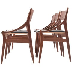Set of Six Dining Chairs by H. Vestervig Eriksen