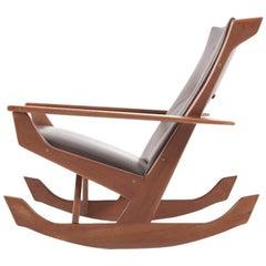 Rare Georg Jensen Rocking Chair in Solid Teak