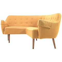 Rare and Early Danish Corner Sofa 1940-1950s