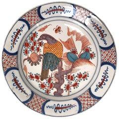 18th Century Polychrome Dutch Delft Platter