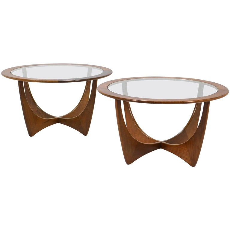 Pair of V.B. Wilkins Astro Tables by G-Plan For Sale