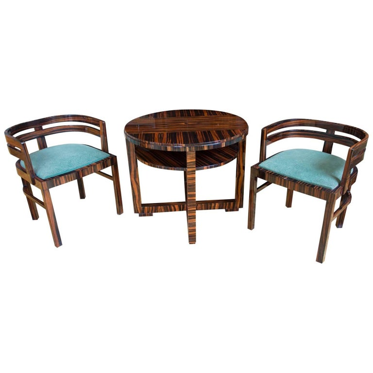 Functionalist Czech Seating Set In Macassar By Vlastimil