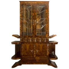 Italian Art Deco Display Cabinet, 1930s