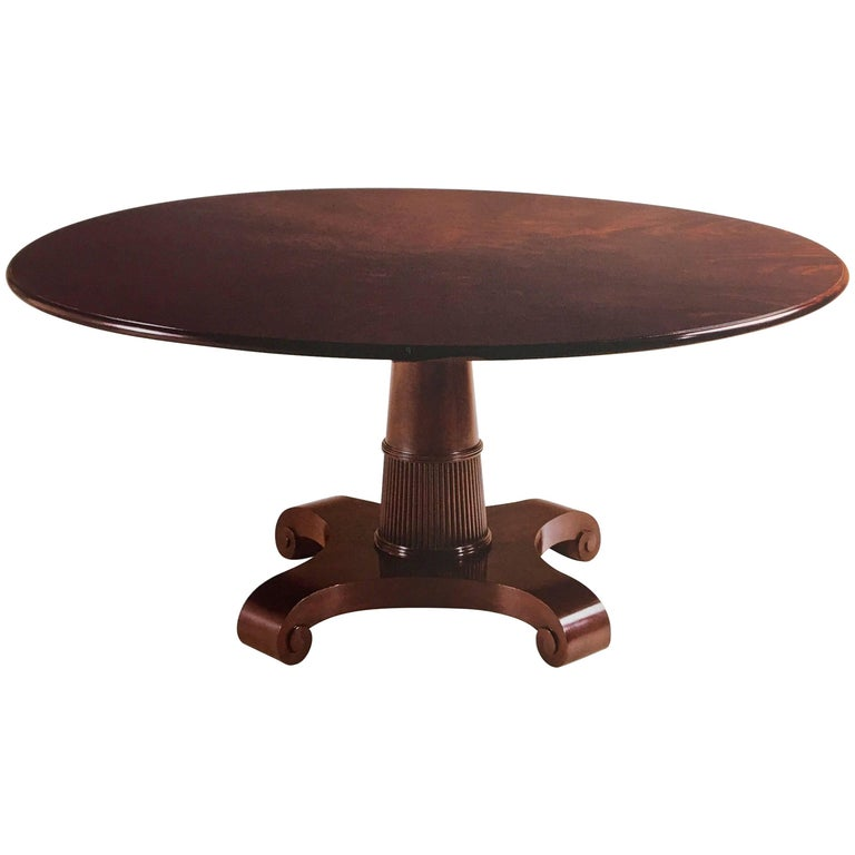 baker furniture thomas pheasant round pedestal dining room table at