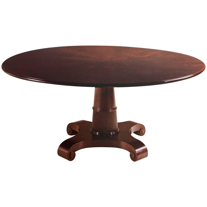 Baker Furniture Thomas Pheasant Round Pedestal Dining Room Table