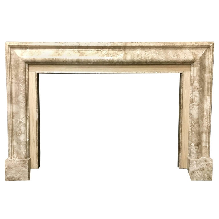 Antique bolection marble fireplace surround for sale at for Marble mantels for sale