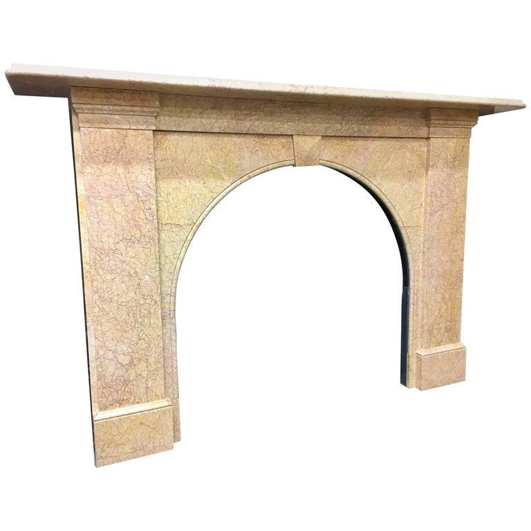 Antique Victorian Arch Fireplace Surround