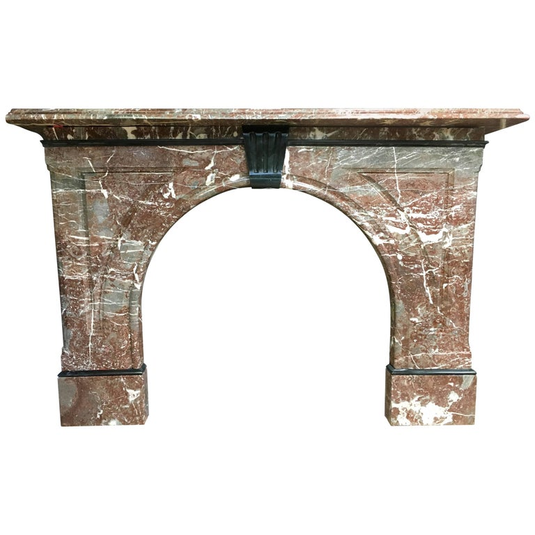 Antique Victorian Arched Fireplace Surround