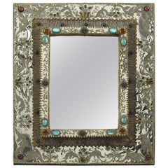Talosel Table Vanity Mirror Executed by the Workshop of Line Vautrin