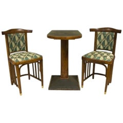 Antique Viennese Secession Lounge Cafe Set of Three, 1910s