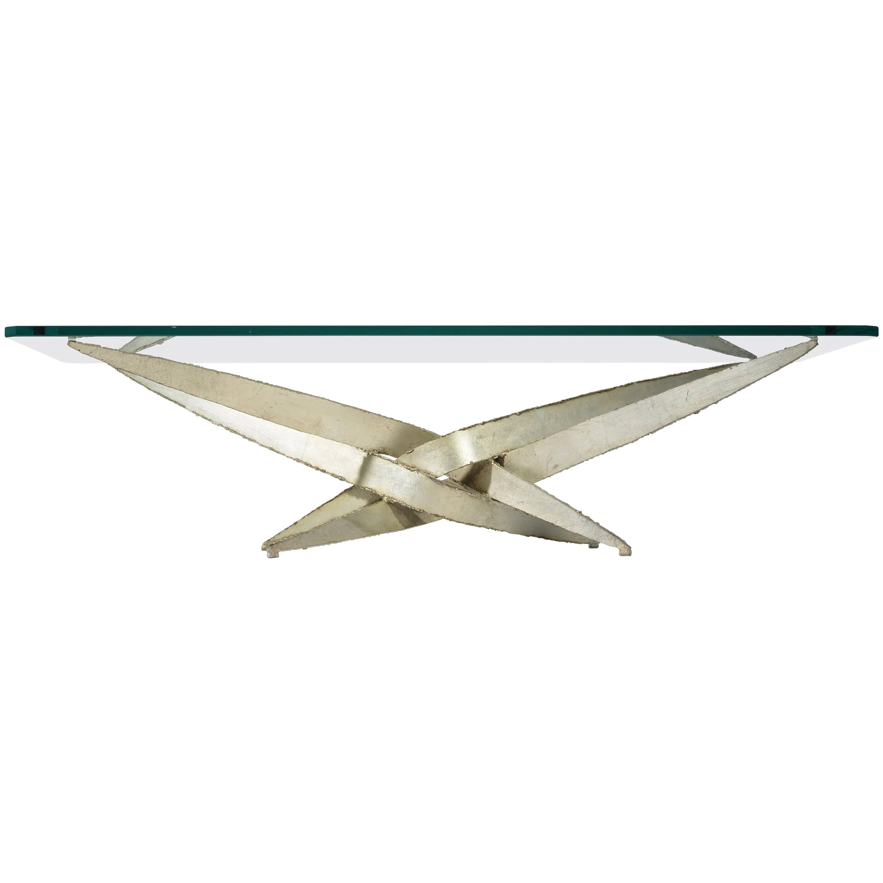 Large Silas Seandel Torch Cut Coffee Table